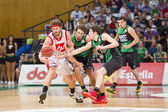 Basketball players in action — Stockfoto