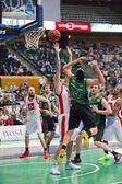 Azione di basket — Foto Stock
