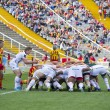 Rugby scrum action — Stock Photo