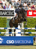 Horse jumping - Athina Onassis — Stock Photo