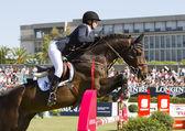 Horse jumping - Athina Onassis — Stock Photo