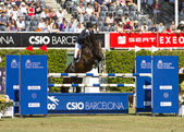Horse jumping - Athina Onassis — Foto de Stock