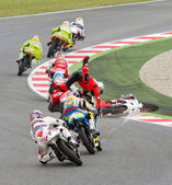 Motorbike crash — Stock Photo