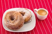 Cronut and cofee — Stock Photo