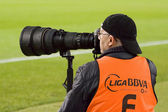 Sport photographer — Stock Photo