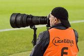 スポーツのカメラマン — ストック写真