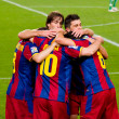 Постер, плакат: FC Barcelona goal celebration