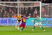Mesi scores a goal — Stock Photo