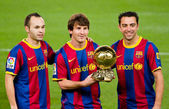 Messi with Golden Ball — Stock Photo