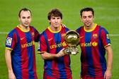 Leo Messi Golden Ball — Zdjęcie stockowe