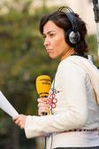 Journalist woman — Stock Photo