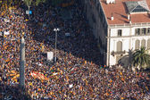 Rally for Catalonia independence — Stock Photo