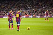 Messi and Xavi — Stock Photo