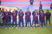 FC Barcelona team presentation — Stock Photo