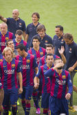 FC Barcelona team presentation — Stock Photo