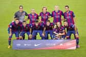 FC Barcelona team 2014-2015 — Stock Photo