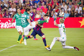 Leo Messi goal score — Stock Photo
