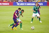 Leo Messi dribbling — Zdjęcie stockowe