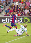 Neymar goal score — Stock Photo