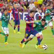 Leo Messi dribbling — Stock Photo #51680007
