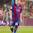 Постер, плакат: Jeremy Mathieu of FC Barcelona