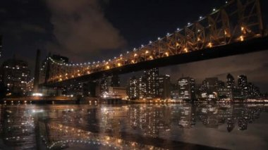 Time lapse new york city at night — Stock Video