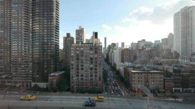 Urban street aerial view — Stock Video