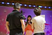 TV Interview — Stock Photo
