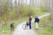 Fowlers są obserwowanie ptaków — Zdjęcie stockowe