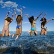 Party on beach — Stock Photo #33545225