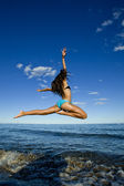 Flying girl — Stock Photo