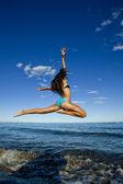 Flying girl — Stock Photo