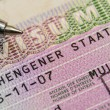 Schengen visa - Stock Photo