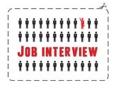 Job interview — Stock Vector