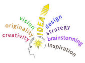 Brainstorming ideas — Stock Vector