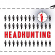 Headhunting poster — Stock Vector