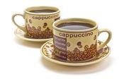 Två koppar kaffe — Stockfoto