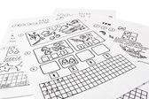 Training manuals on mathematics — Stock Photo