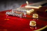 Guitarra vermelha — Fotografia Stock