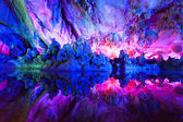 Bright, colorful, colorful caves China — Stock Photo