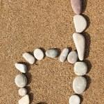 Numbers stones — Stock Photo