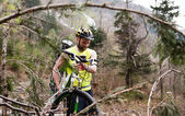 Mountain bike park — Stock Photo