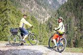 Friends on a bike — Stockfoto