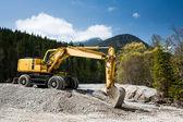 Dredge the river rake rubble — Stock Photo