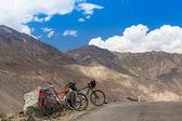 Two mountain bikes — Stock Photo