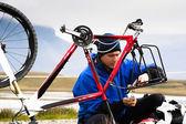 Bike repair — Stock Photo