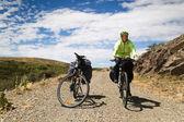 A mountain biker — ストック写真