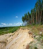 Landscape with sandy quarry — Stock Photo