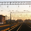 Railway station and rails seeking to distance — Stock Photo #27403135
