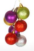 Many colored Christmas balls — Stock Photo
